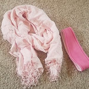 Accessories - Pink Scarf and Ear muff